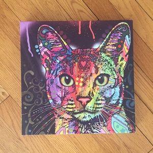 Rainbow cat wall decor